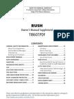 2005 Rush Owners Manual Supplement En