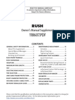 2005 Rush Owners Manual Supplement En