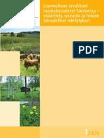 Heliölä et al 2009 Luonnoltaan arvokkaat maatalousalueet Suomessa