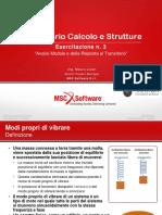 695 MSC Software-Esercitazione 3-(Dinamica)