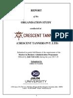 Organisation Study - Crescenttanners
