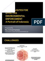 Mas Achmad Santosa - Prerequisites for Effective Environmental Enforcement - A Portrait of Indonesia