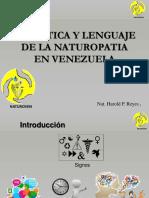 Semiotica y Lenguaje de La Naturopatia en Venezuela