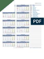 Calendario Venezuela 2018