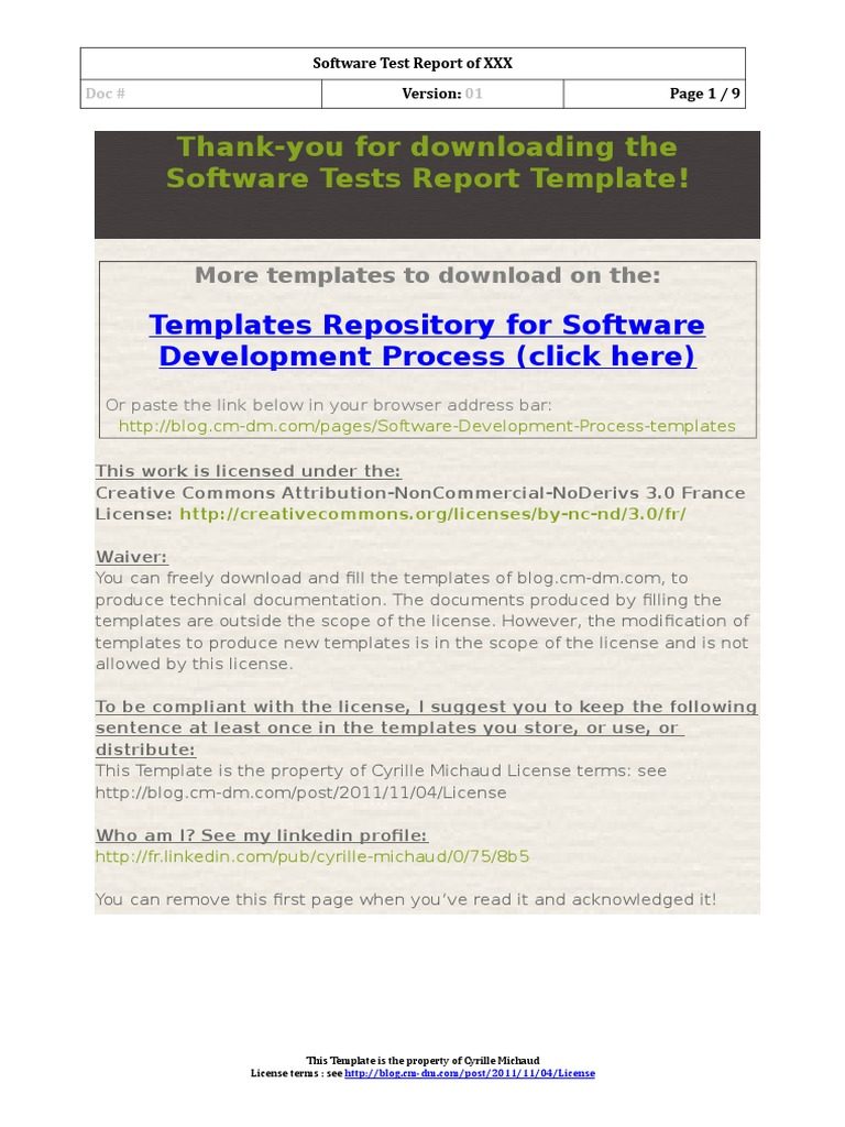 Software Test Report Templatec Software Testing Systems