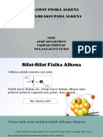 Sifat-Sifat Fisika Alkena