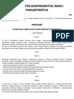 Nn 67_2007_pravilnik o Korištenju Obnovljivih Izvora Energije i Kogeneracje