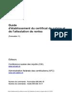 Guide d'Etablissment Des Certificat de Salarire FR