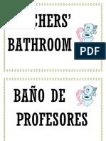 Baño de Profes Ores