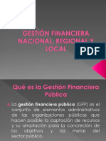 Gestión Financiera Nacional, Regional y Local