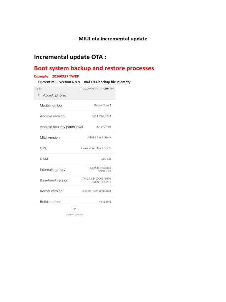 Zcx-twrp Incremental Ota Guide