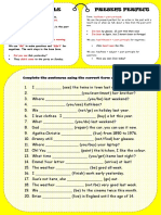 Past Simple or Present Perfect Fun Activities Games 43852