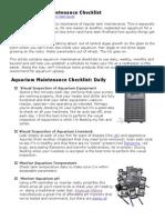 2009 08 14 Reef Aquarium Maintenance Checklist