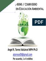 CINA 4996 - CIAM 6990 Internado en Educación Ambiental