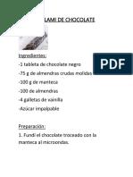 Salami de _chocolate