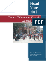 Fiscal 2018 Adopted Warrenton Budget