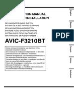 Pioneer Avic f3210 Bt Installation Guide 778465