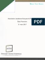 États financiers ACFR 2016 2017