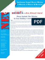 September 2006 Anchorage Gospel Rescue Mission Newsletter