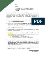 Examen de Regularización - Enero 2018