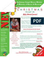 December 2007 Anchorage Gospel Rescue Mission Newsletter