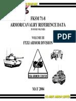 FLSM71-8 Vol III FXXI Armor Division