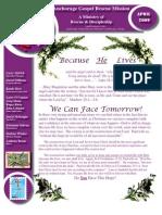 April 2009 Anchorage Gospel Rescue Mission Newsletter