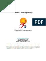 9 Negotiable Instruments