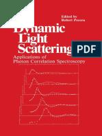 R. Pecora - Dynamic Light Scattering