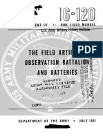 ddc5d68b35 FM6-120 The Field Artillery Observation Battalion and Batteries ...
