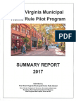 Municipal Home Rule Pilot Program Summary Report 2017