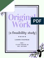 original work booklet