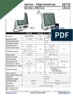 Datasheet Termometros Veto 2