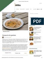 Carpaccio de Gambas _ Gastronosfera 1
