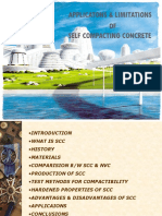 APPLICATONS & LIMITATIONS of Self Compacting Concrete