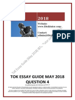 ToK Essay Guide May 2018 Q4