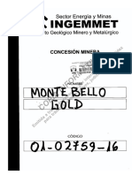 C. M. MONTEBELLO GOLD