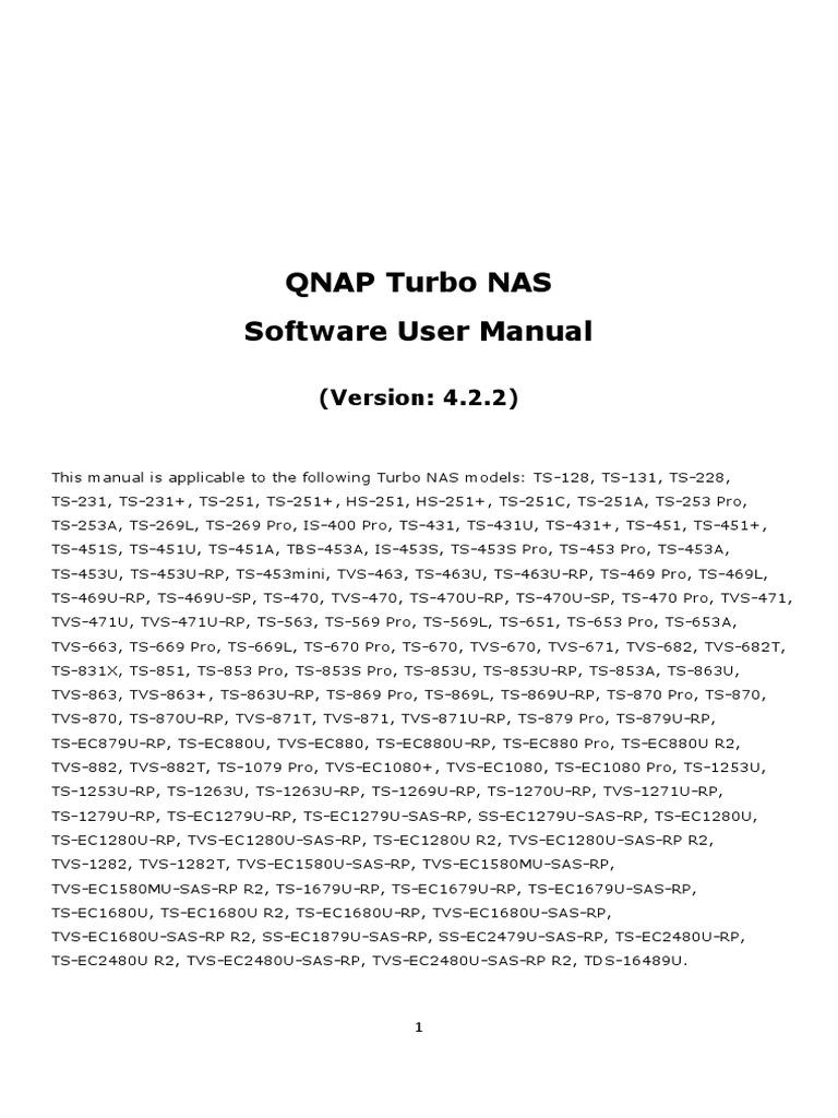 Qnap Turbo Nas v4 2 2 | Hard Disk Drive | Usb