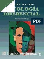 Manual de Psicologia Diferencial - Antonio Andrés Pueyo