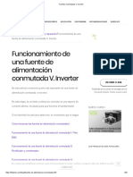 Fuentes Conmutadas v. Inverter