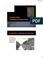 Construction Methods of Metro
