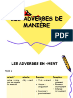 Adverbes Manière 9.º