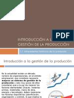 Unidad 1- Introduccion a La Gestion de La Produccion