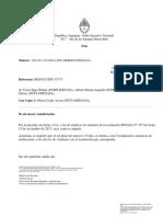 Notificacion a Contadora Marìa Elena  Chavez Designacion en La Pampa
