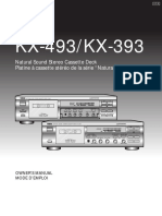 Yamaha KX-493_KX-393 Cassete Deck Owners Manual
