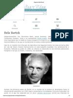 Biografia de Bela Bartok