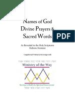 Holy  & Divine Names of God