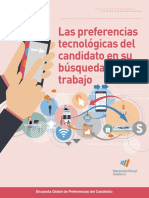 Las preferencias tecnológicas del candidato en su búsqueda de trabajo