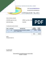 COTIZACION No.451 Discos de Asbesto - IsC San Carlos