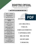 LEY ORGÁNICA PARA EL FORTALECIMIENTO Y OPTIMIZACION DEL SECTOR SOCIETARIO Y BURSATIL.pdf